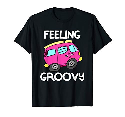 Feeling Groovy, Pink Van T-shirt. Cool Style Tees ()