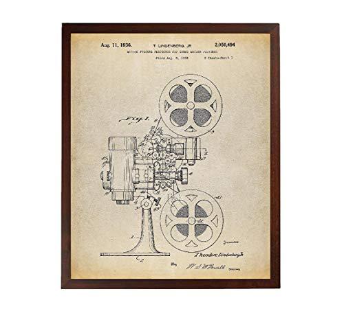 Turnip Designs Movie Projector 1933 Patent Poster Art Print Movie Wall Art Director Gift Movie Room Decor Vintage Movie Film Projector Cinema Decor TNP168