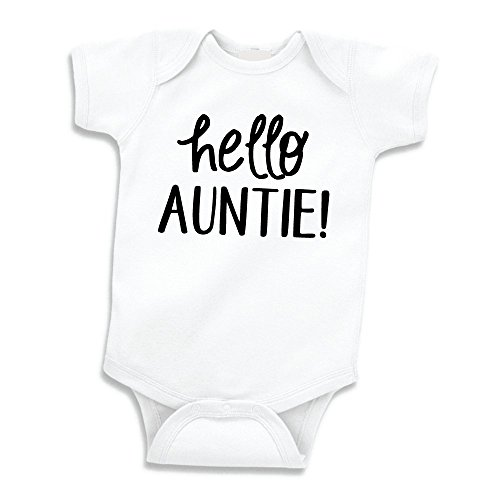 Bump and Beyond Designs Surprise Pregnancy Announcement for Aunt, Hello Auntie (0-3 Months)
