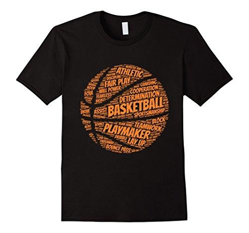 Mens Basketball shirt gift for boys, girls, men and women Small Black