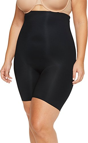 SPANX Plus Size Power Conceal-Her Medium Control High-Waist Short, 3X, Very Black