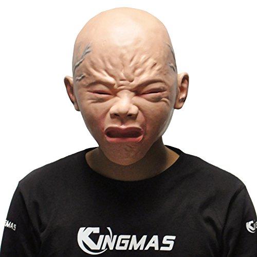 KINGMAS Halloween Cry Baby Mask Cosplay Crying boy Latex Mask (Latex Masks Halloween)