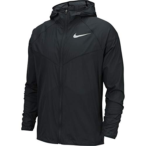 Nike Men's Windrunner Running Jacket Black/Reflective Silver Size Medium