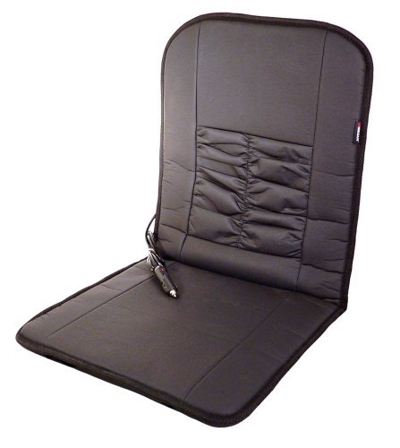 Wagan IN2282 Black 12V Faux Leather Deluxe Heated Seat Cushion by Wagan