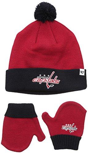 Washington Capitals Snap (NHL Washington Capitals Toddler Bam Bam Knit Hat & Mittens Set, One Size, Red)