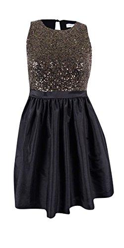 - Calvin Klein Women's Sequined Pocket Sheath Dress Black 6