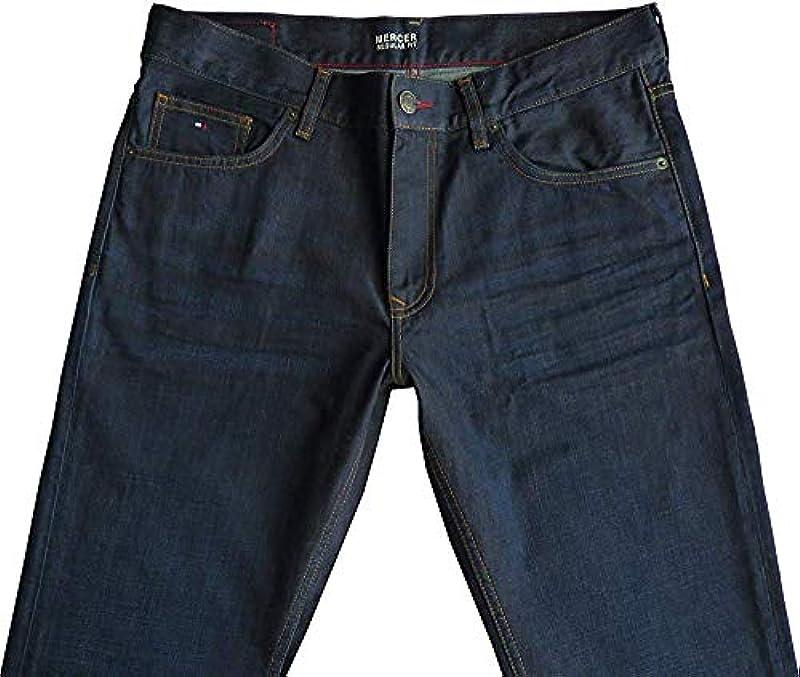 Tommy Hilfiger dżinsy Mercer Regular Fit niebieskie Clean Blue (Eo/ Mercer Clean Blue), kolor: niebieski , rozmiar: 40W / 32L: Odzież