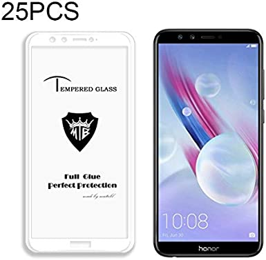 Black GzPuluz Glass Protector Film 25 PCS Full Screen Full Glue Anti-Fingerprint Tempered Glass Film for Huawei Honor 9 Lite Color : Blue