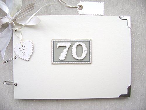 PERSONALISED 70TH BIRTHDAY MEMORIES SCRAPBOOK MEMORY PHOTO ALBUM GIFT MULTI USE
