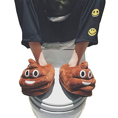 Chaussons Antidérapants Hiver Unisexe Caca Adulte Pantoufles Chausson Taille Funny Cadeau Femme Homme Noël Emoji Unique Peluche Enfant YPxqxz8