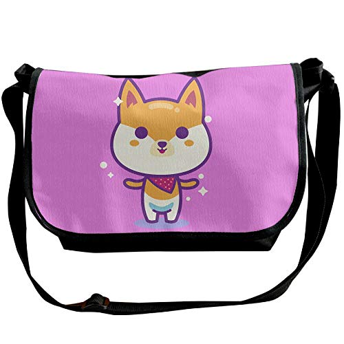 Black Shiba Bags Casual Handbags Cute Fashion Messenger Dog Puppy Inu Cartoon Bag Unisex Sling Designer fw6Sp