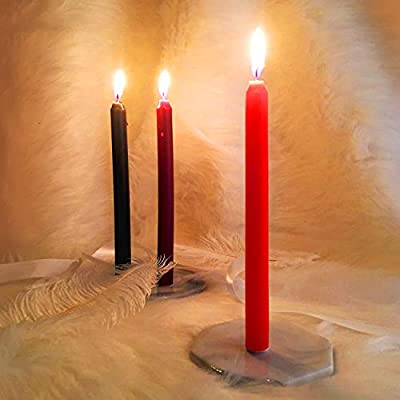 Jia Ying Xin Low Temperature Candles-Romantic Candles for Couples (3PCS) Black: Clothing