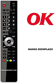 Mando TV Ok OLE221B-DVDD4: Amazon.es: Electrónica