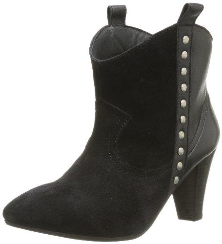 Pieces Ishara Leather - Botas de ante mujer negro - Noir (Black)