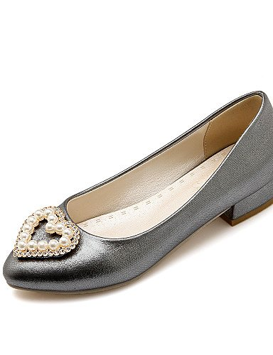 BGYHU GGX/Damen Schuhe Patent Fall Heels/Schuhe Heels Büro & Karriere/Casual Low Heel Nachahmung Pearl Pink/Weiß/Grau pink-us6.5-7 / eu37 / uk4.5-5 / cn37