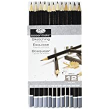 Royal & Langnickel SPEN-12 Essentials Sketching Pencil Set, 12-Piece