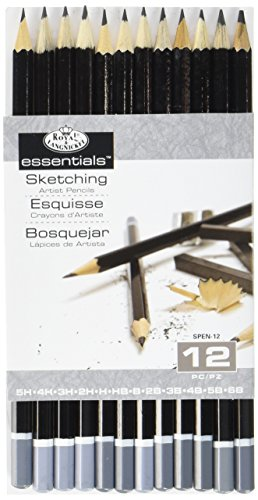 - Royal & Langnickel SPEN-12 Essentials Sketching Pencil Set, 12-Piece