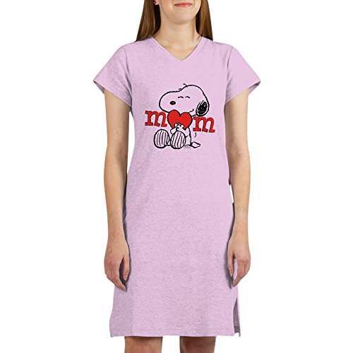 CafePress - Snoopy Mom Hug - Women's Nightshirt, Soft Long Pajama Shirt, Cotton PJs/Pyjamas Pink