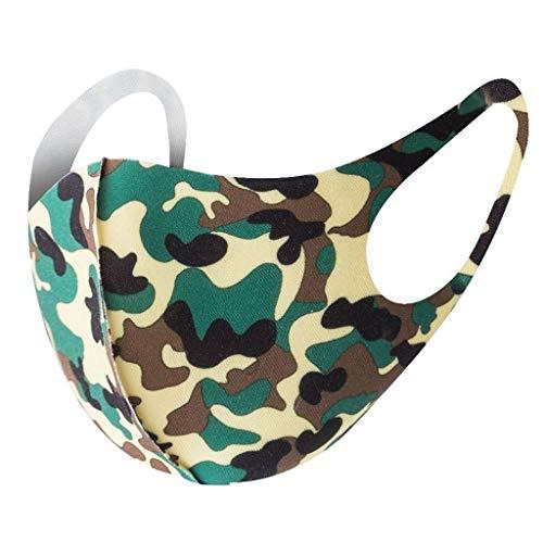 Kids Face Mask [ Mon. to Fri. ] - 5 PCS Reusable Cloth Face Mask Set, Striped, Back to School/Work Supplies