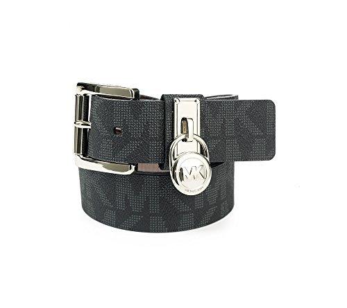 Michael Kors Hamilton Lock Monogram Belt S (Kors Michael Women Belts)