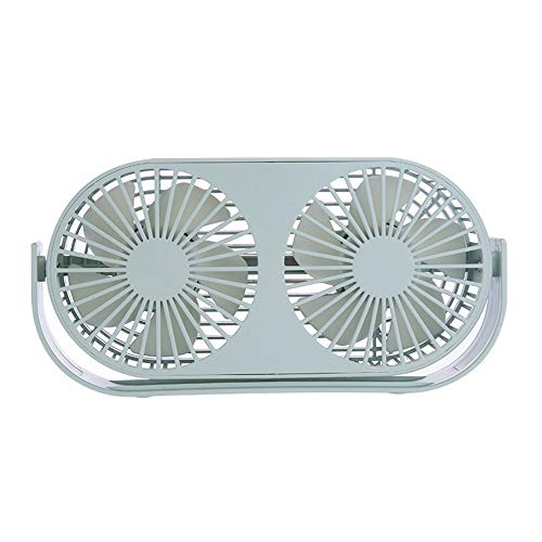(Sunshine Liho Desktop Double-Headed Aromatherapy Fan Student Dormitory Desktop Double-Leaf USB Charging Mini Fan, 360° Rotating Hair)