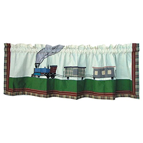 Train Window - Patch Magic Train Curtain Valance, 54-Inch by 16-Inch