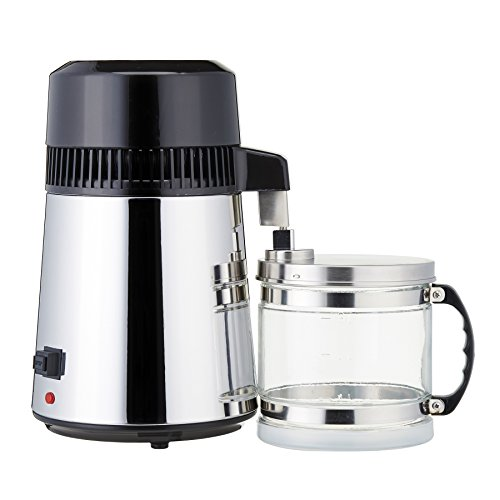 CO-Z ALL Stainless Steel 4L Pure Water Distiller Set with Glass Connection Bottle & Stainless Steel Outlet by CO-Z