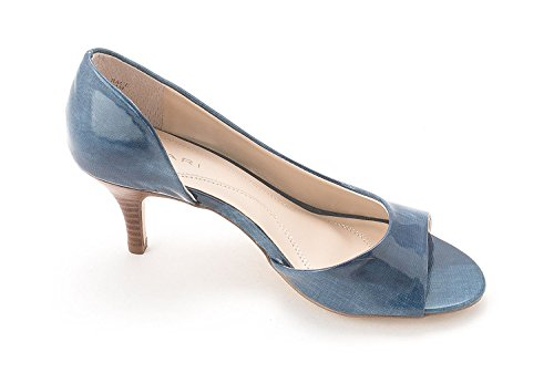 Tahari Race Women Open-Toe Synthetic Gold Heels Blue l1REOA