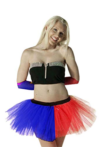 (Crazy Chick Blue & Sexy Layers Tu Tu Red 3 Womens Skirt Fancy Costumes)