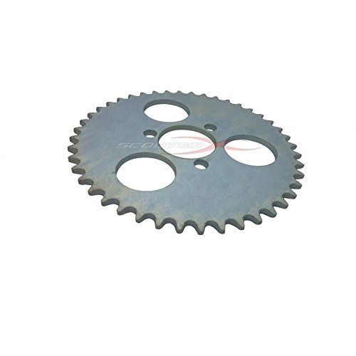 Scooterx 44 tooth sprocket for Gas Scooter, Pocket Bike, Mini Chopper, Gas Skateboard ()