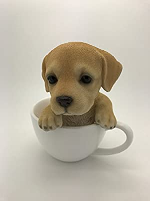 Pacific Giftware Adorable Teacup Pet Pals Puppy Collectible Figurine 5.75 Inches (Labrador)