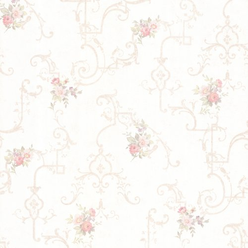 Floral Mirage Wallpaper (Mirage 992-68305 Lori Floral Trellis Wallpaper, Blush)