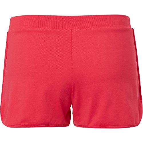 Sportkind Mädchen & Damen Tennis / Volleyball / Sport 2-in-1 Shorts mit Innenhose, pfirsich, Gr. 158
