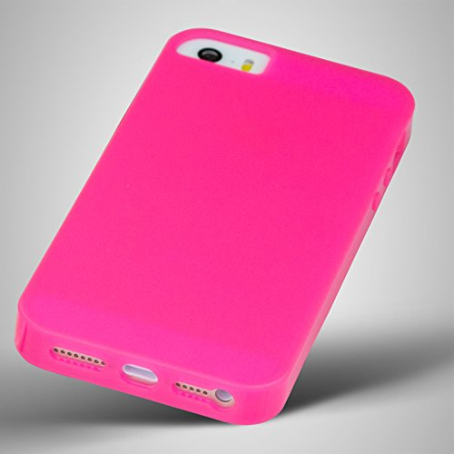 cTRON21 Handyhülle Apple iPhone SE / 5S / 5 Touch Case Flip Cover Display Hülle Tasche Schale Pink