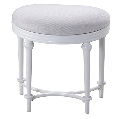 (Cape May Vanity Stool in Matte White)
