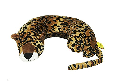Critter Piller Kid's Travel Buddy and Comfort Pillow, Leopard, Hypoallergenic, Machine Washable, Recycled Filling ()