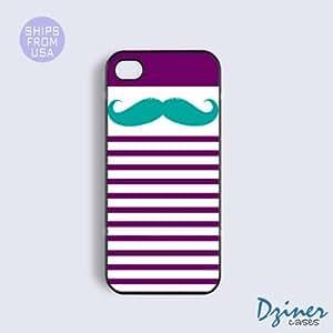 iPhone 5c Case - Purple stripes Mustache iPhone Cover
