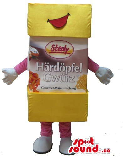 Costume Fancy Dress Fries French (Gourmet French Fries advertising SpotSound Mascot US costume fancy)