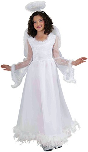 [Forum Novelties Fluttery Angel Child's Costume, Large] (Angel Wings For Halloween Costumes)