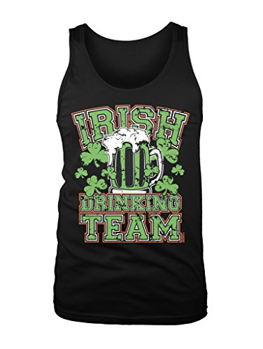 LOGOPOP Men's Irish Drinking Team Tank Top, 2XL, Black