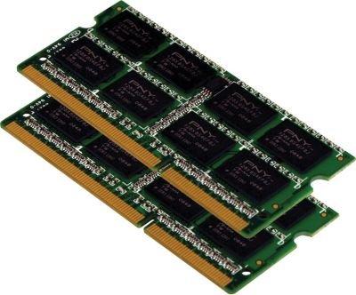 PNY 8GB (2x4 GB) Notebook Memory Module - PC3-10666, 1333MHz, DDR3, SODIMM