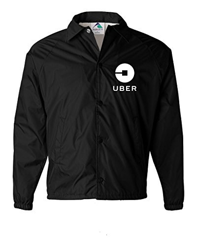 Uber Driver New Logo Men's Coach Jacket Outerwear New   Black