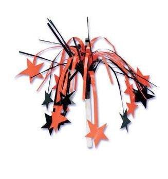 Halloween - Orange and Black Sprays with Stars Picks 4'' Set of 6