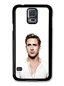 AMAF ? Accessories Ryan Gosling White T-Shirt Close Up case for Samsung Galaxy S5