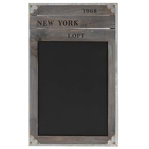"""Pizarra de tiza de madera–rústico–""""Nueva York 1968–Memo Junta"""