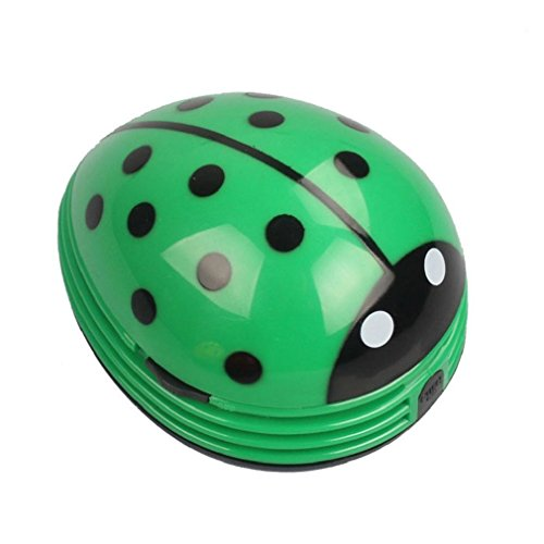 Cute Portable Beetle Ladybug Cartoon Mini Desktop Vacuum Desk Dust Cleaner Crumb Sweeper