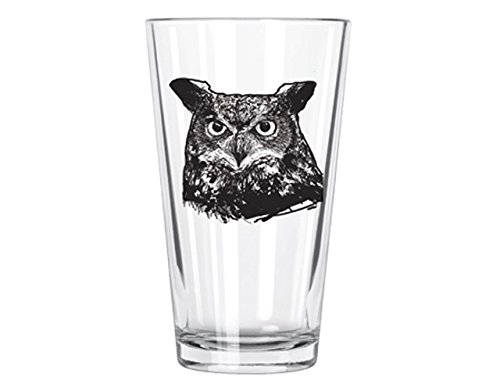 Corkology Great Horned Owl Pint Glass, Clear 411-4