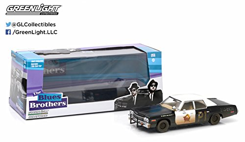 Greenlight Hollywood Series 2 Blues Brothers 1974 Dodge Monaco Bluesmobile Vehicle (1:43 ()