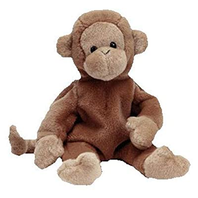 TY Beanie Baby - BONGO the Monkey (Dark Brown Tail Version): Toys & Games