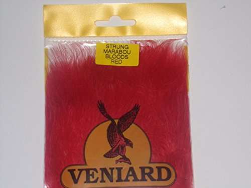 Veniard Turkey Marabou Blood Quills Strung (Red)